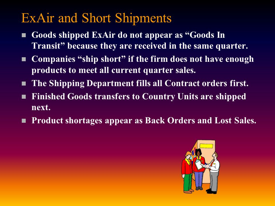 ExAir and Short Shipments