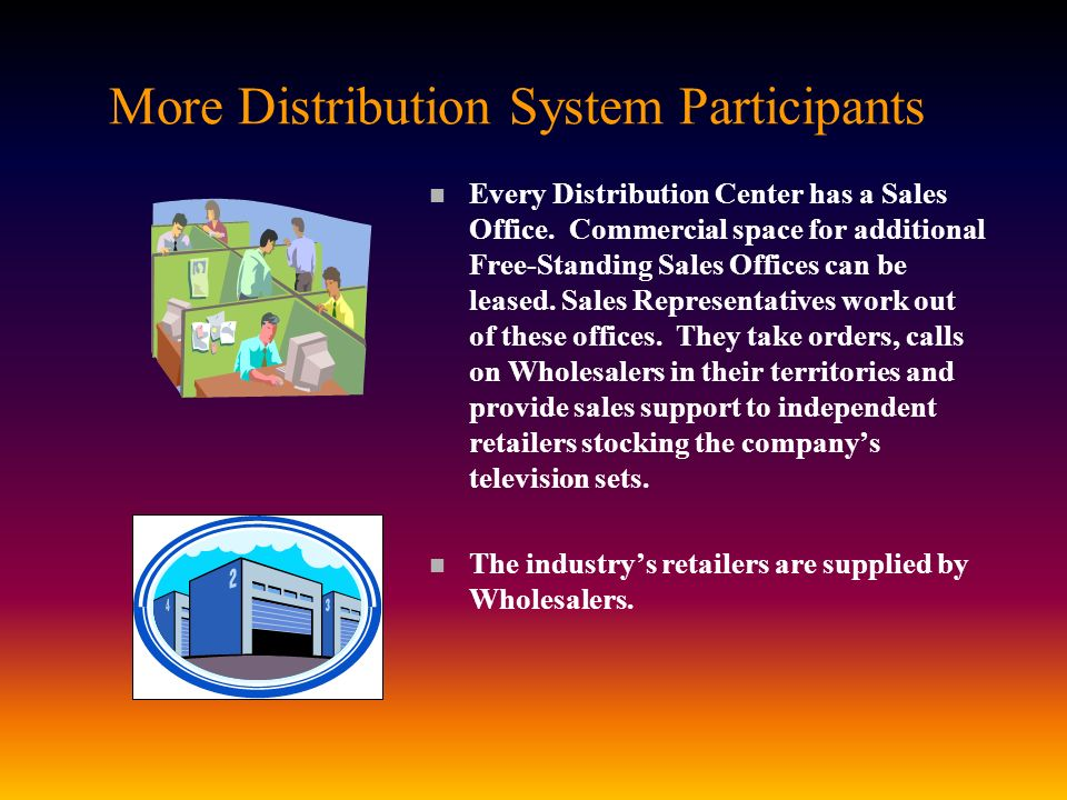 More Distribution System Participants