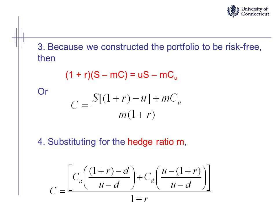 3. Because we constructed the portfolio to be risk-free, then