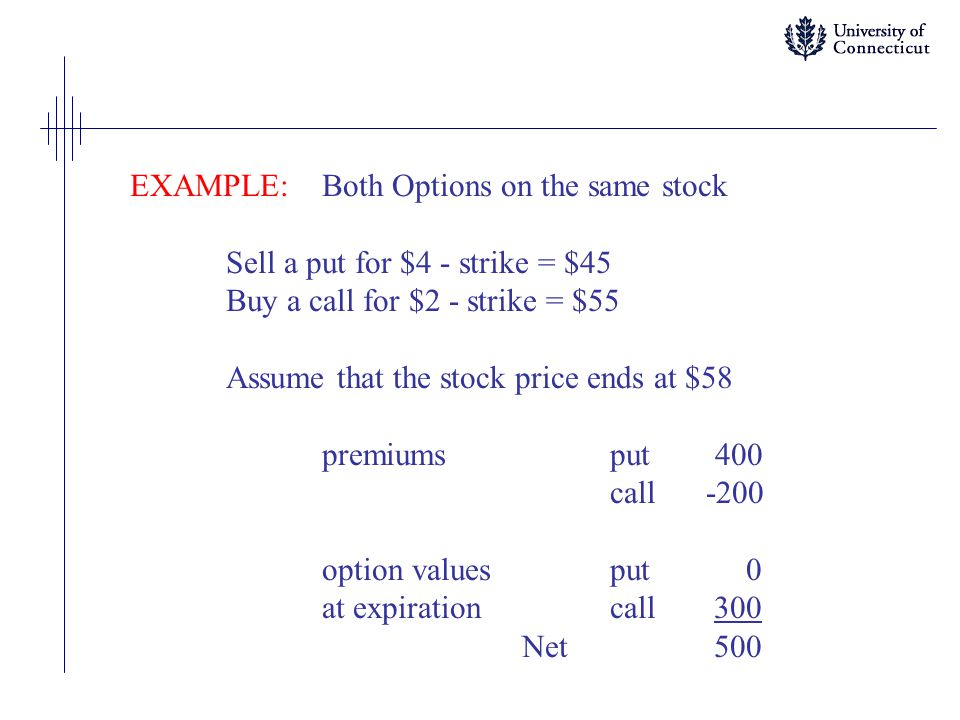 EXAMPLE: Both Options on the same stock