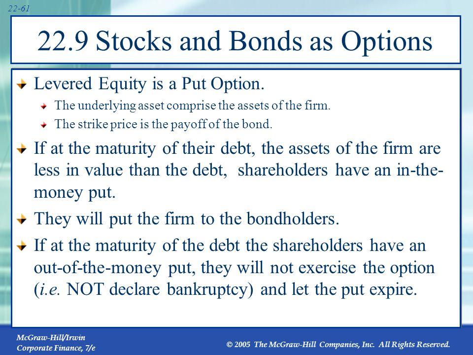 22.9 Stocks and Bonds as Options