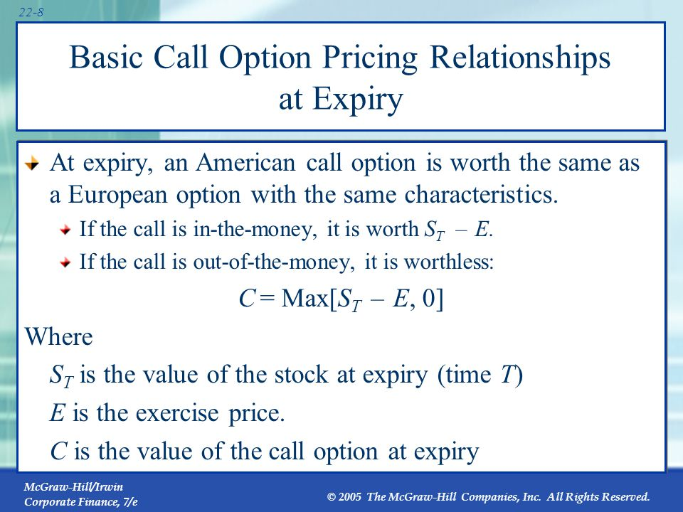 Call Option Payoffs Exercise price = $50 Buy a call 60 40