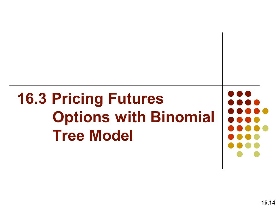16.3 Pricing Futures Options with Binomial Tree Model