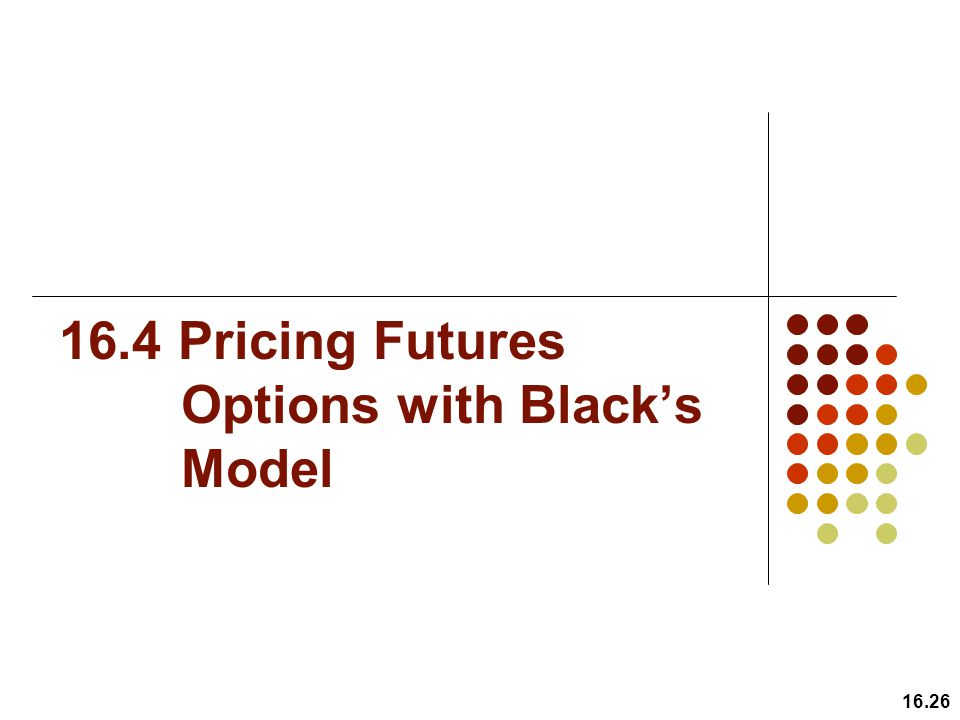 16.4 Pricing Futures Options with Black's Model