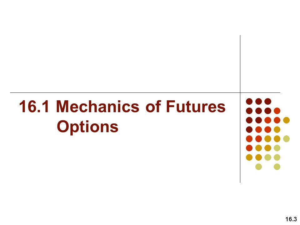 16.1 Mechanics of Futures Options