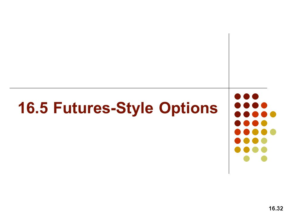 16.5 Futures-Style Options