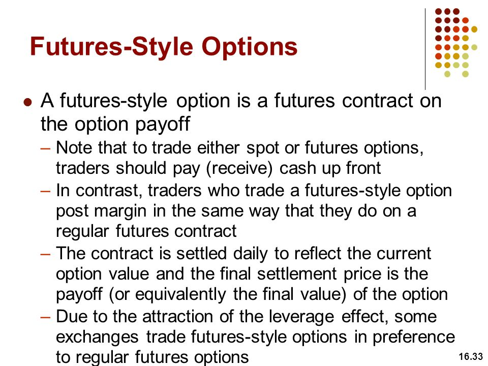 Futures-Style Options