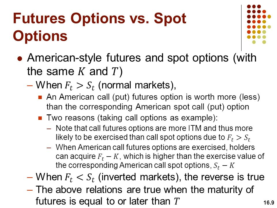 Futures Options vs. Spot Options