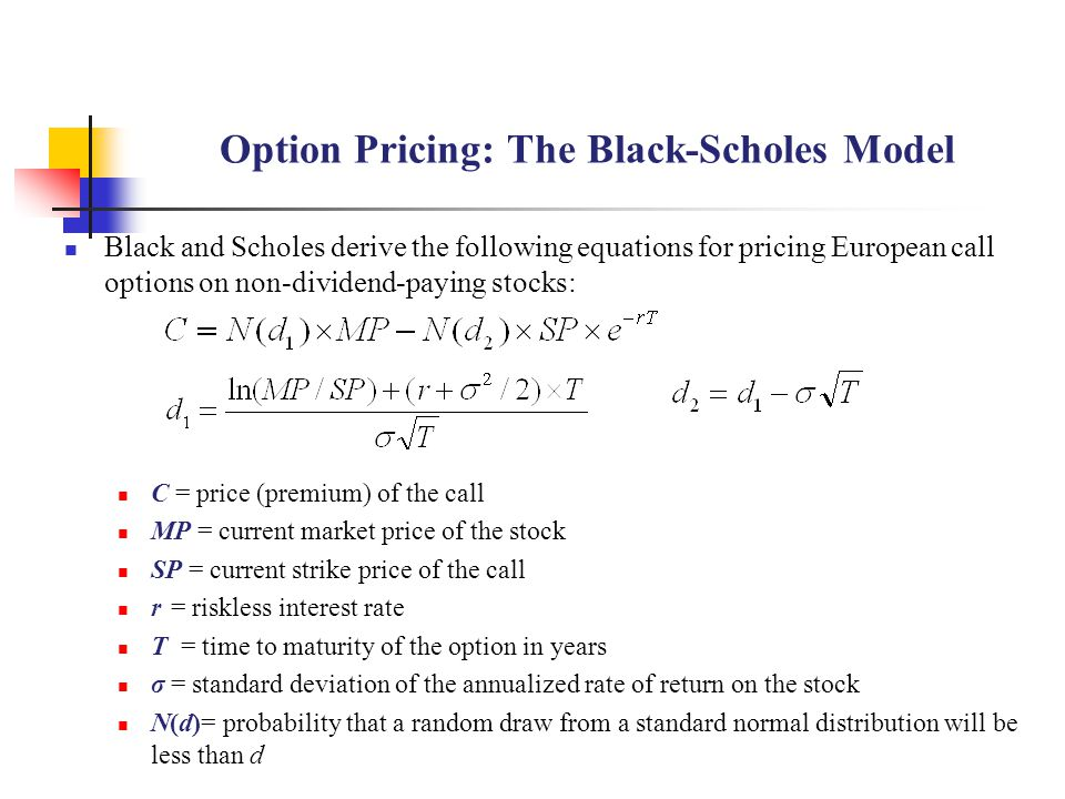 Option Pricing: The Black-Scholes Model