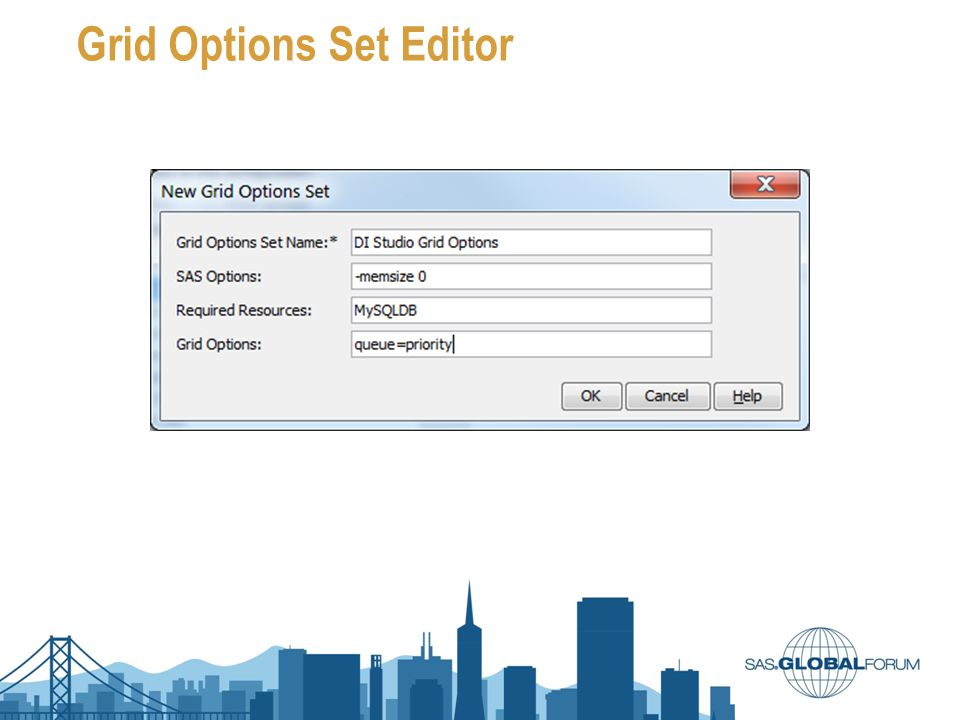 Grid Options Set Editor