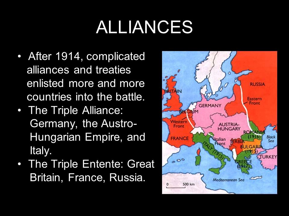ALLIANCES After 1914, complicated alliances and treaties