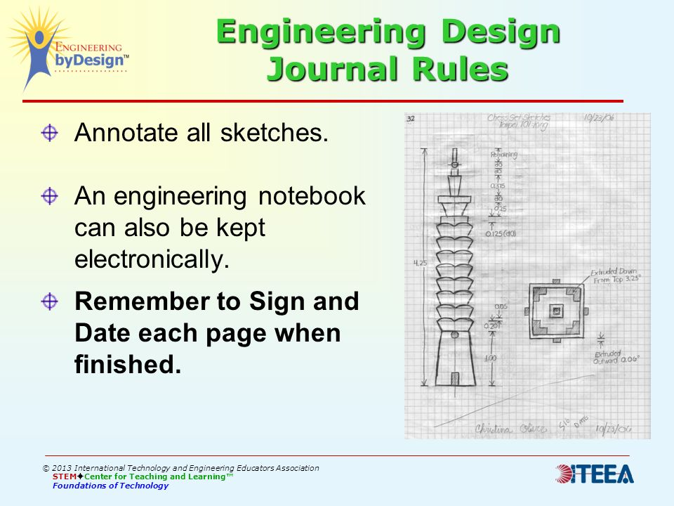 Engineering Design Journal Rules