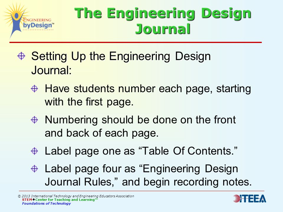 The Engineering Design Journal