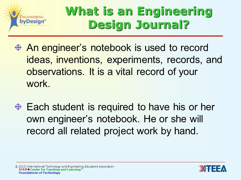 What is an Engineering Design Journal