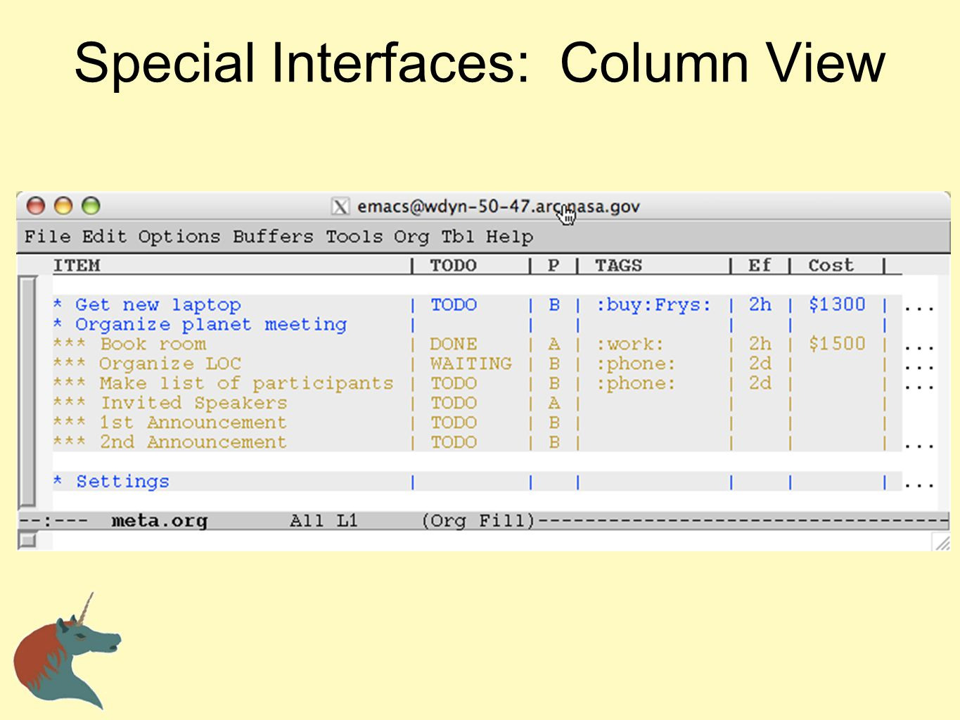 Special Interfaces: Column View