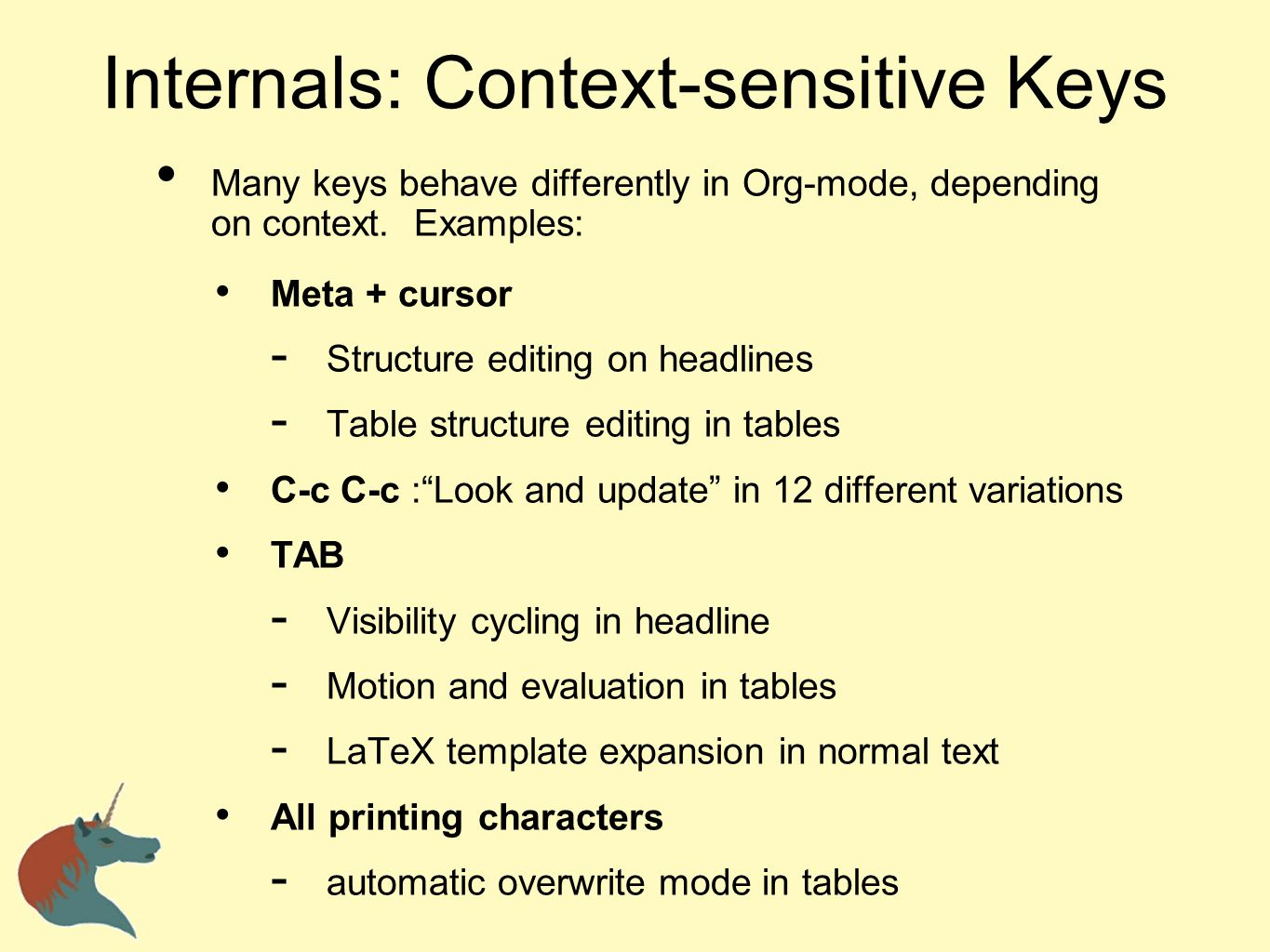 Internals: Context-sensitive Keys