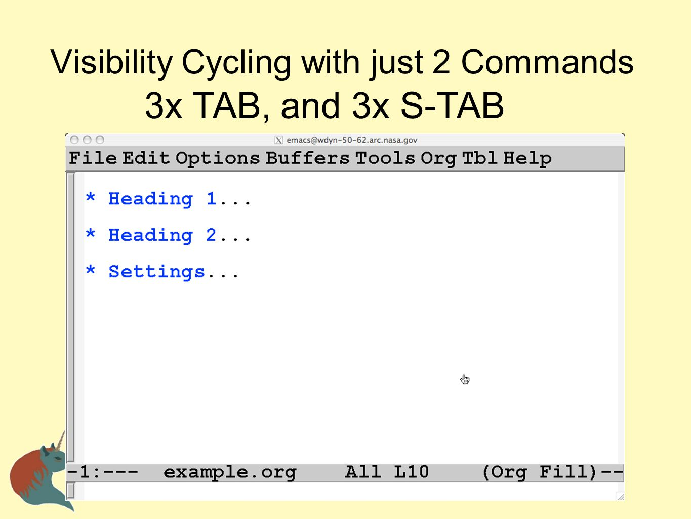 Visibility Cycling with just 2 Commands