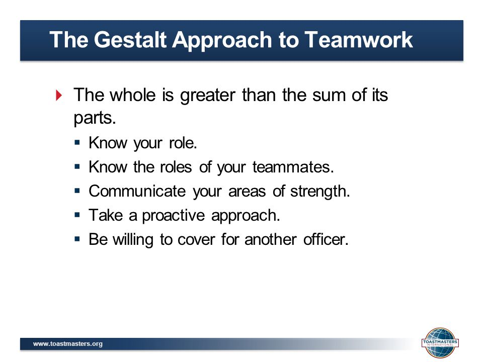 The Gestalt Approach to Teamwork