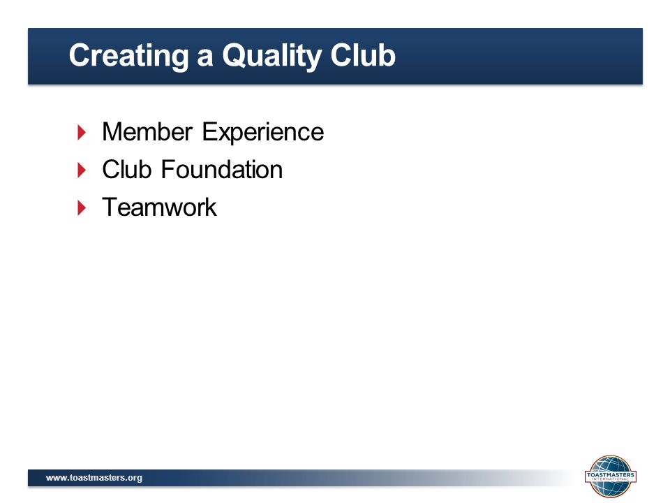 Creating a Quality Club