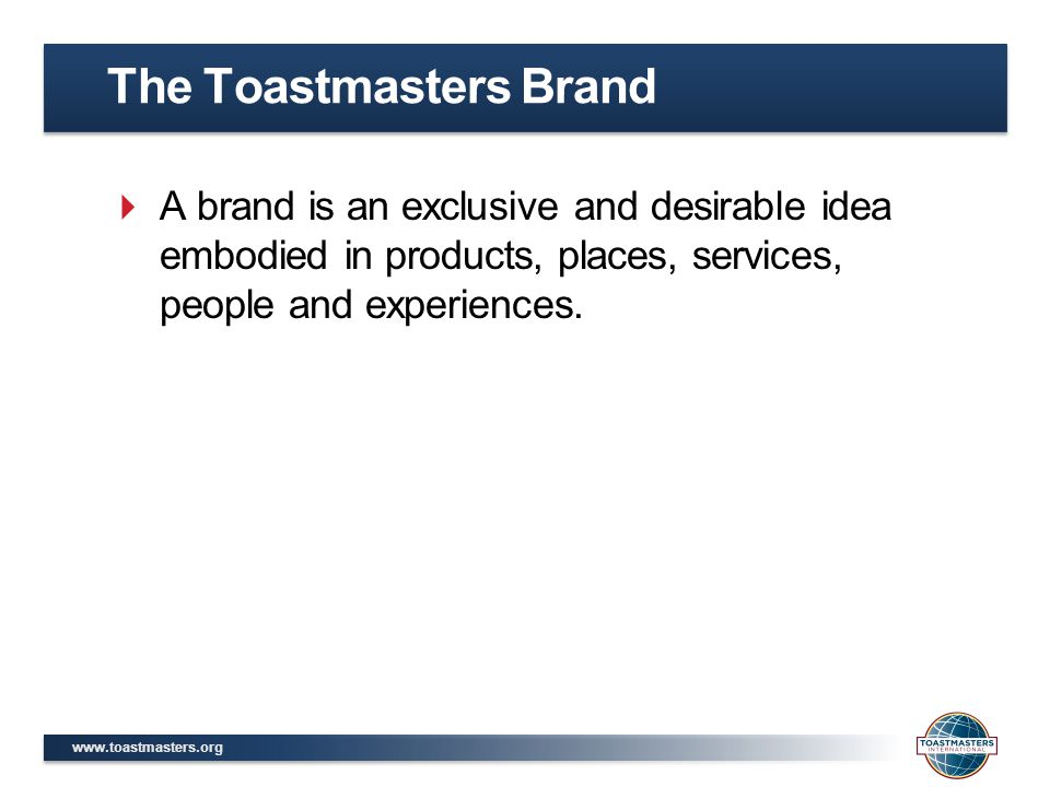 The Toastmasters Brand