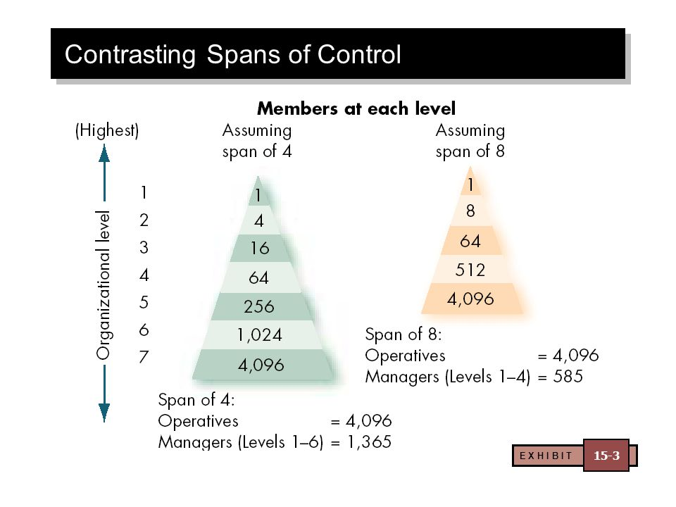 Contrasting Spans of Control