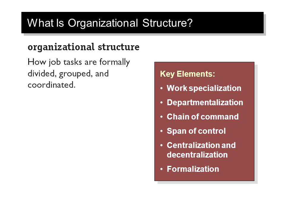 What Is Organizational Structure