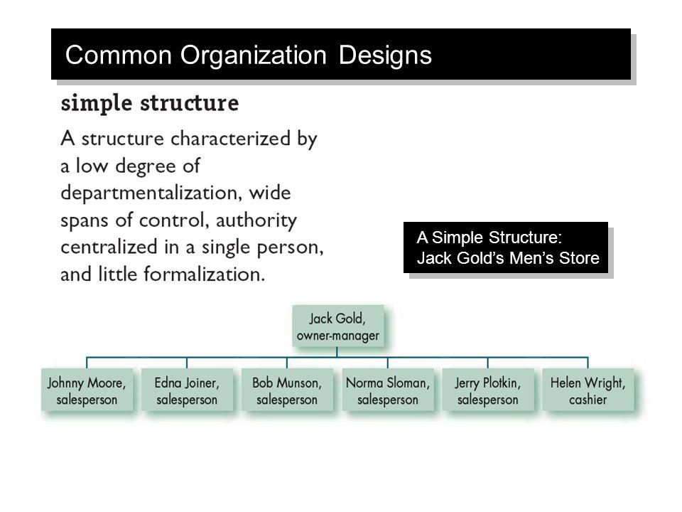 Common Organization Designs