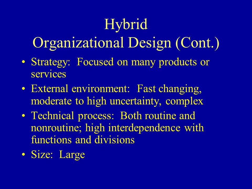 Hybrid Organizational Design (Cont.)