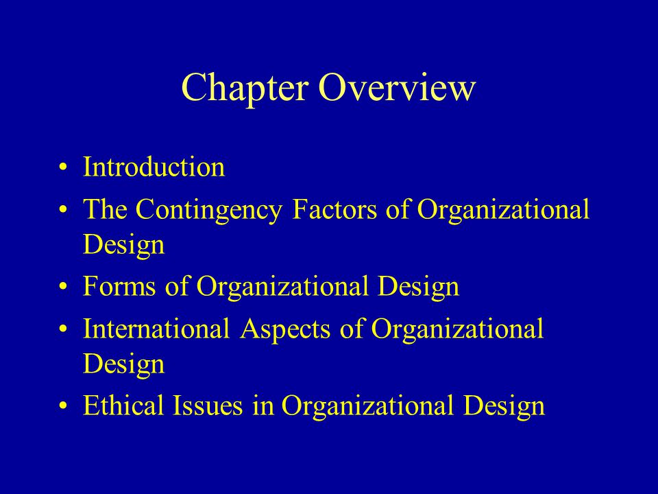 Chapter Overview Introduction