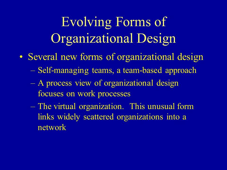 Evolving Forms of Organizational Design