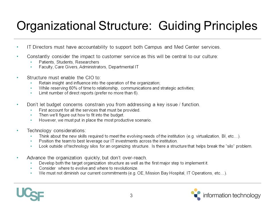 Organizational Structure: Guiding Principles