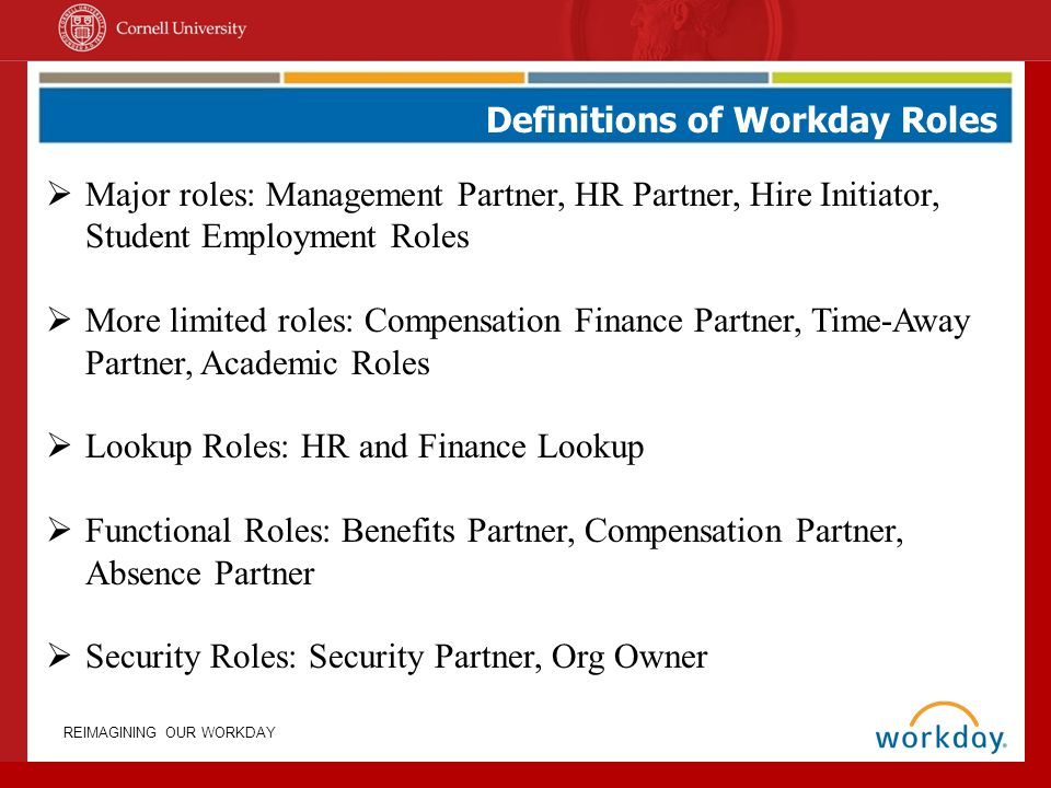Definitions of Workday Roles