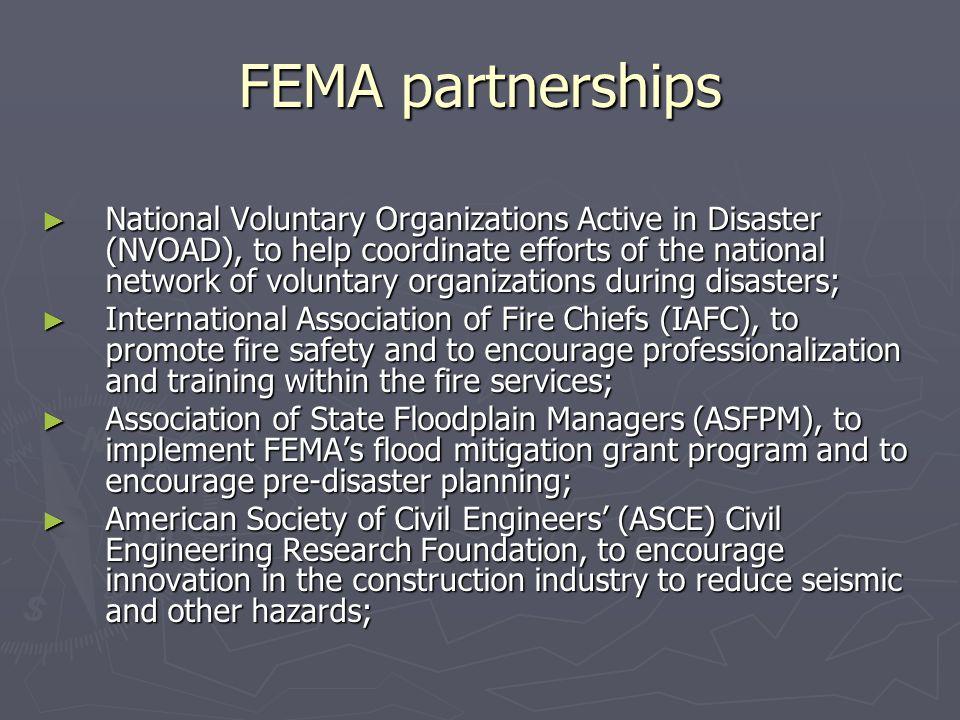 FEMA partnerships