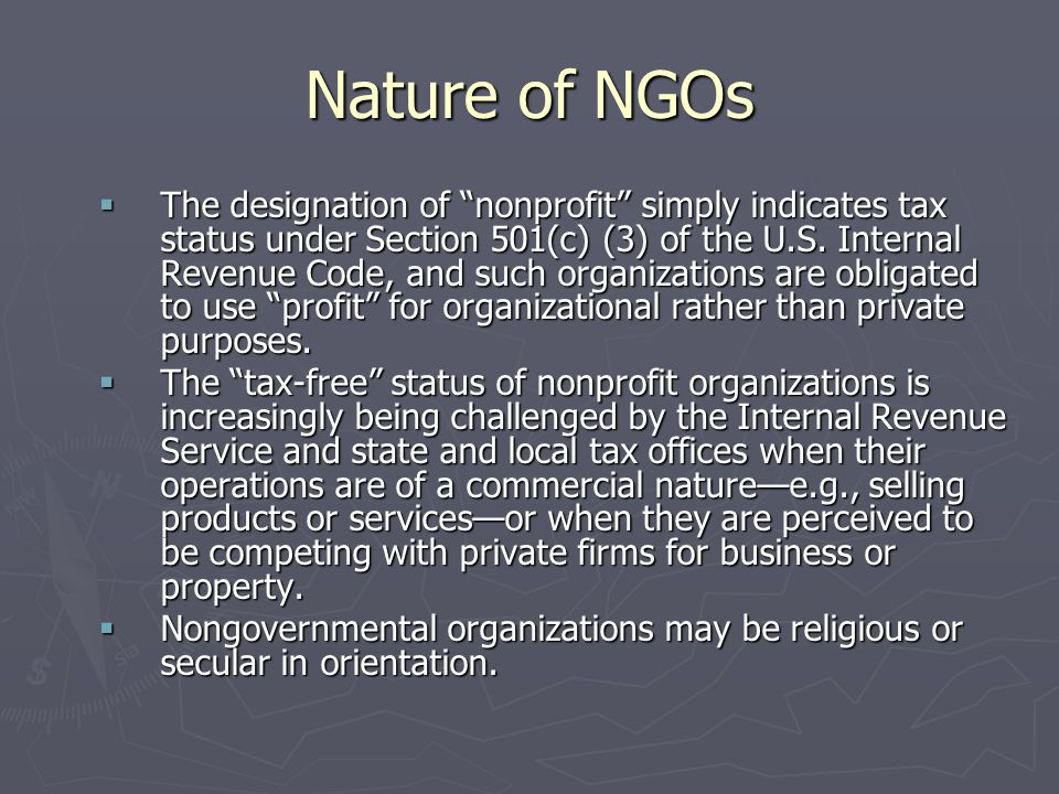 Nature of NGOs