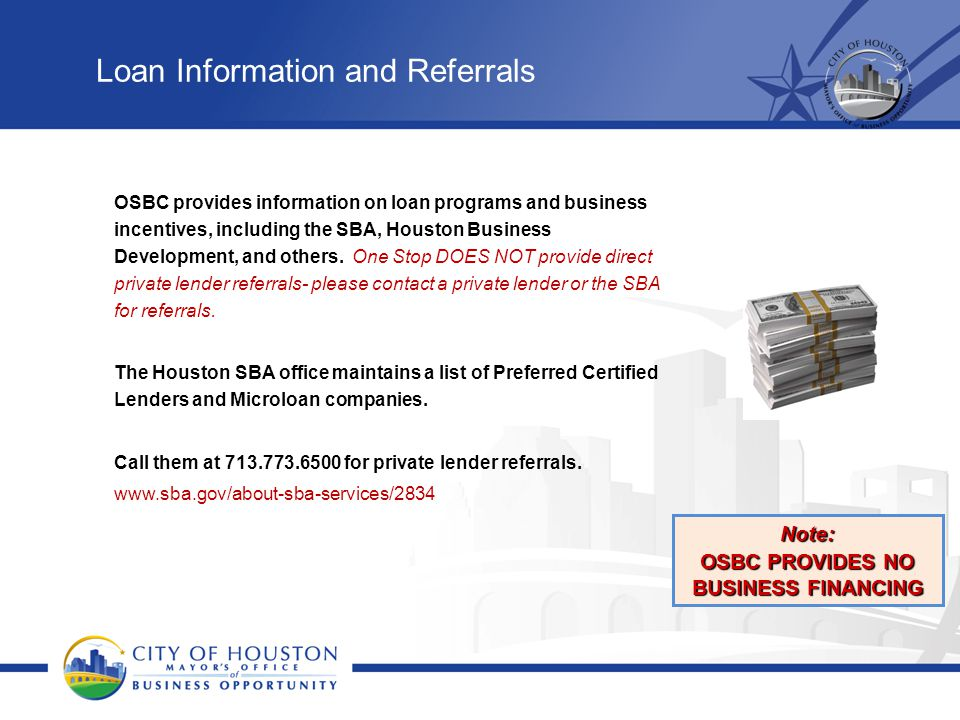 Loan Information and Referrals