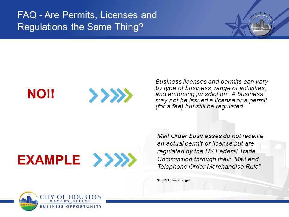 FAQ - Are Permits, Licenses and Regulations the Same Thing