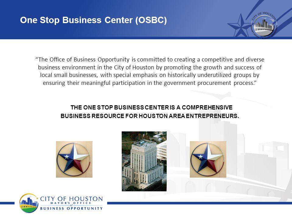 One Stop Business Center (OSBC)