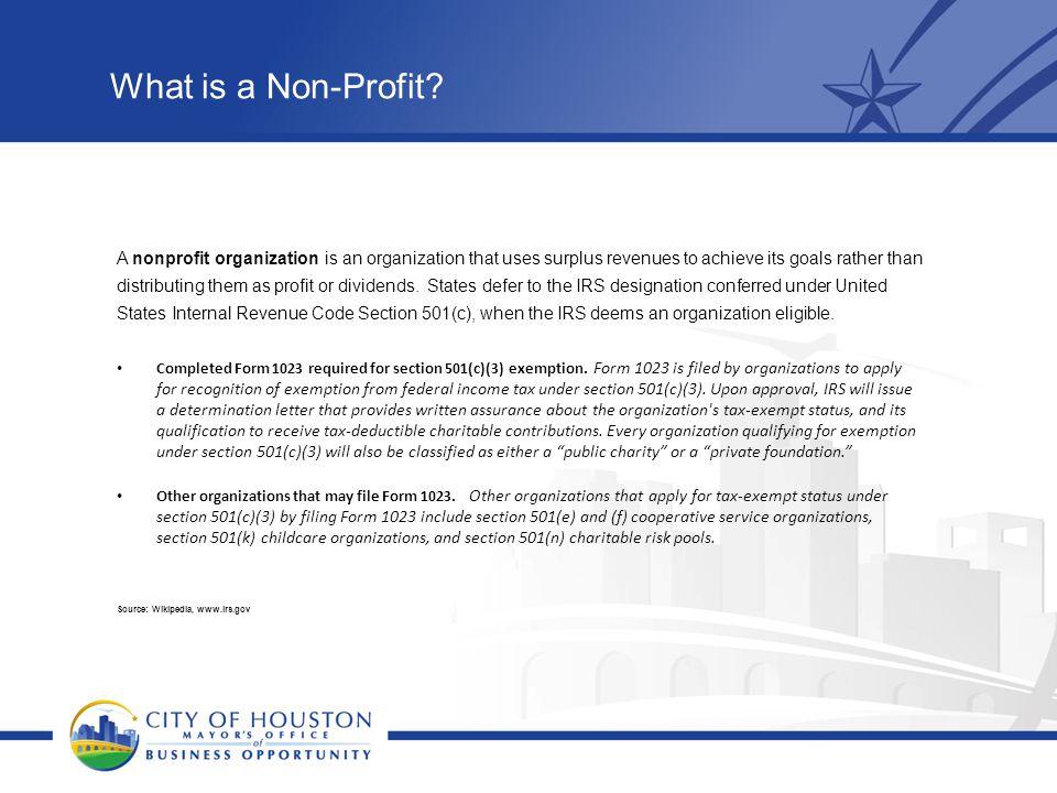 What is a Non-Profit