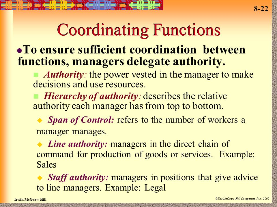 Coordinating Functions