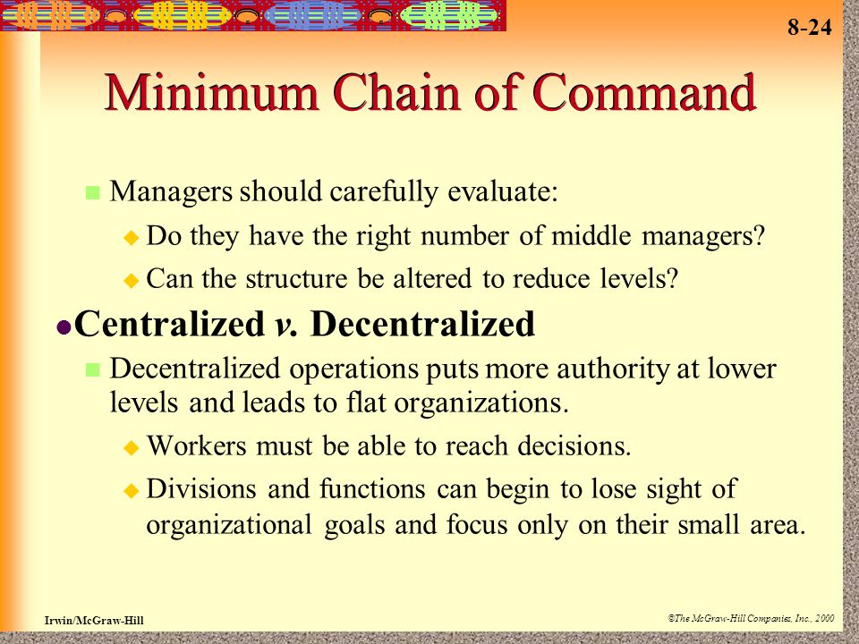 Minimum Chain of Command