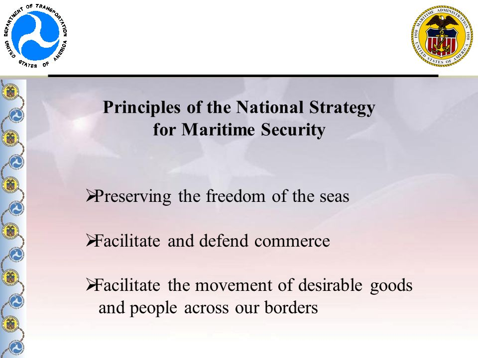 Principles of the National Strategy for Maritime Security
