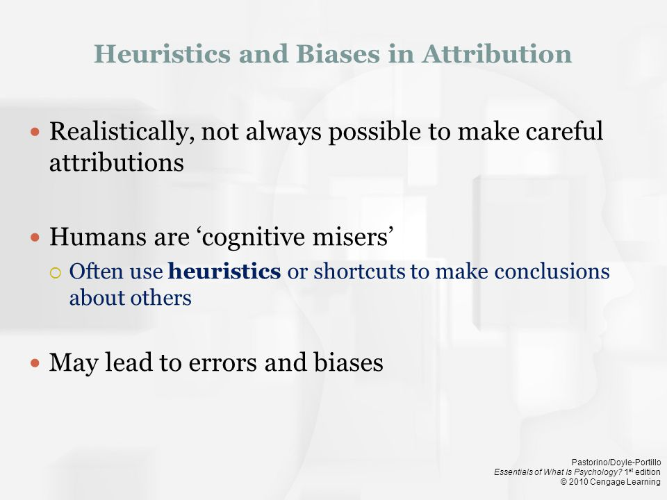 Heuristics and Biases in Attribution
