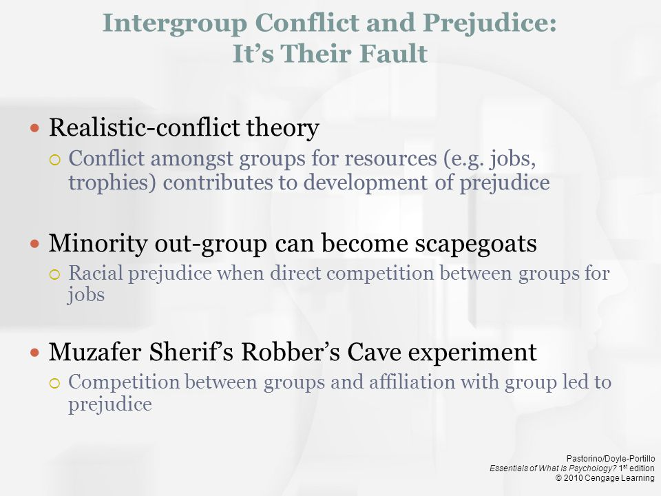 Intergroup Conflict and Prejudice: It's Their Fault