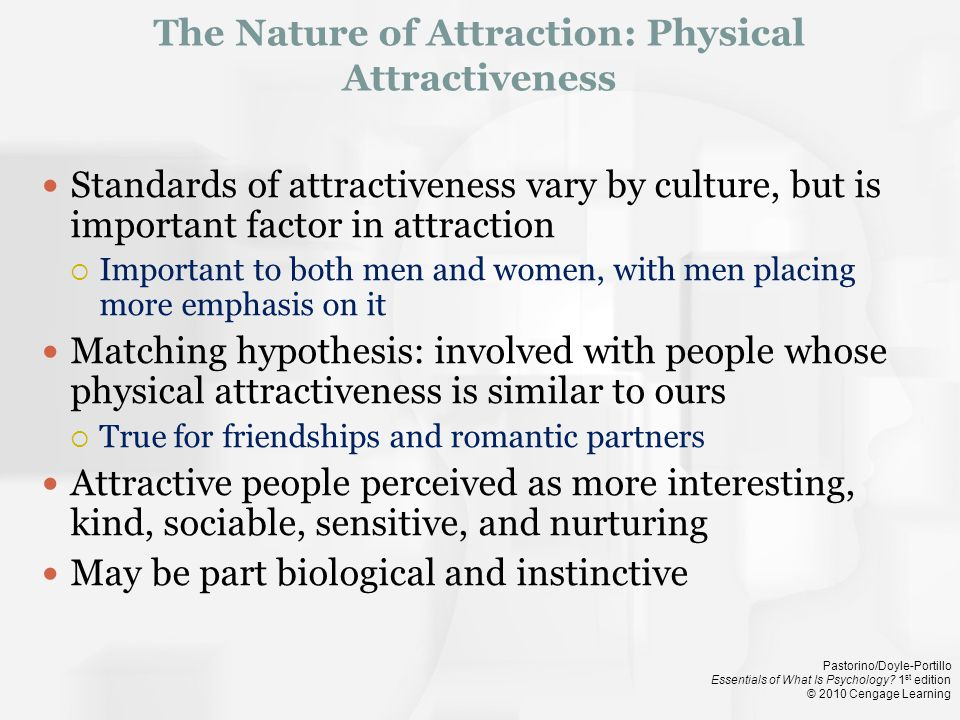 The Nature of Attraction: Physical Attractiveness