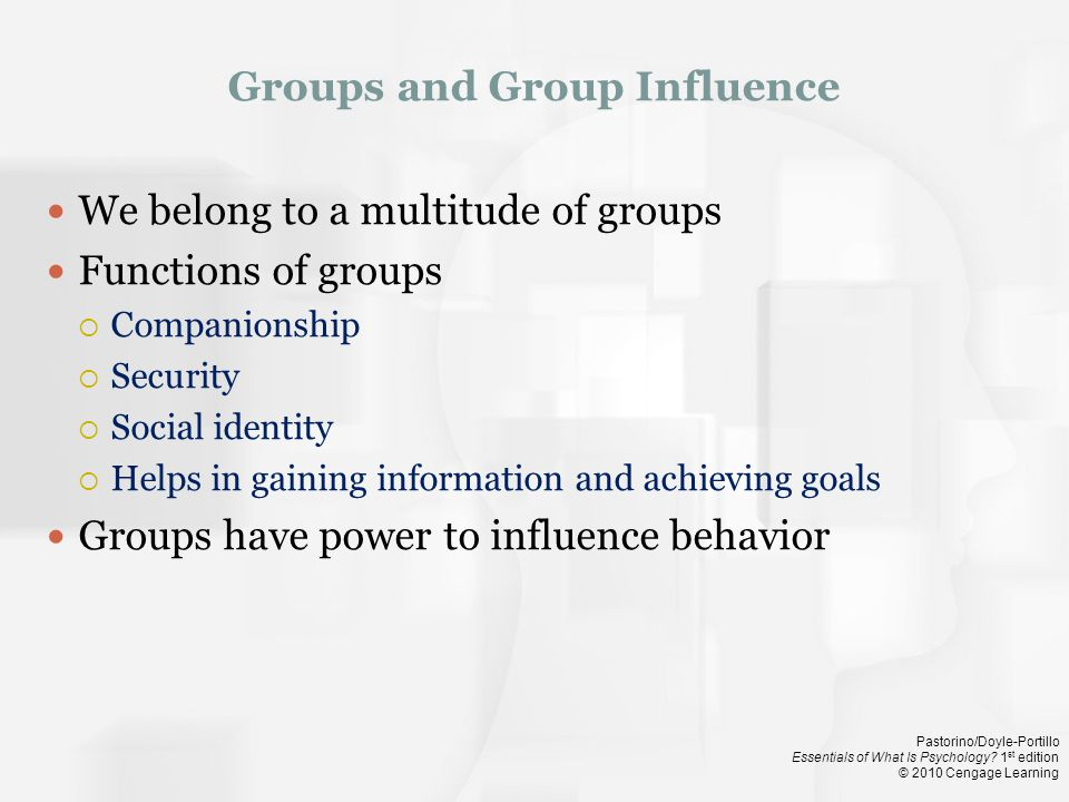 Groups and Group Influence