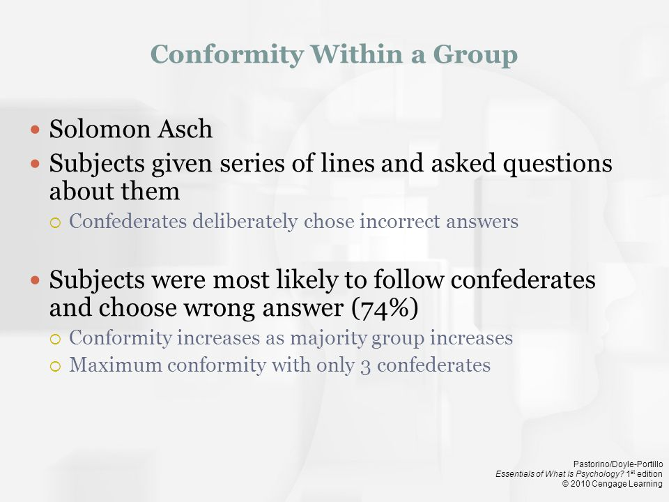 Conformity Within a Group