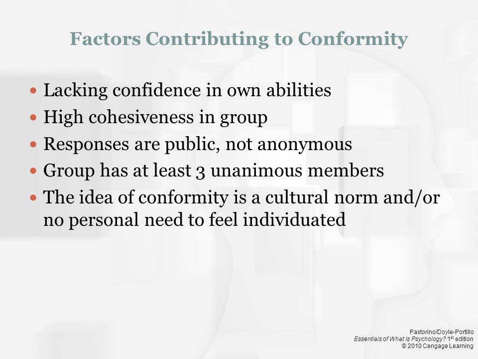 Factors Contributing to Conformity