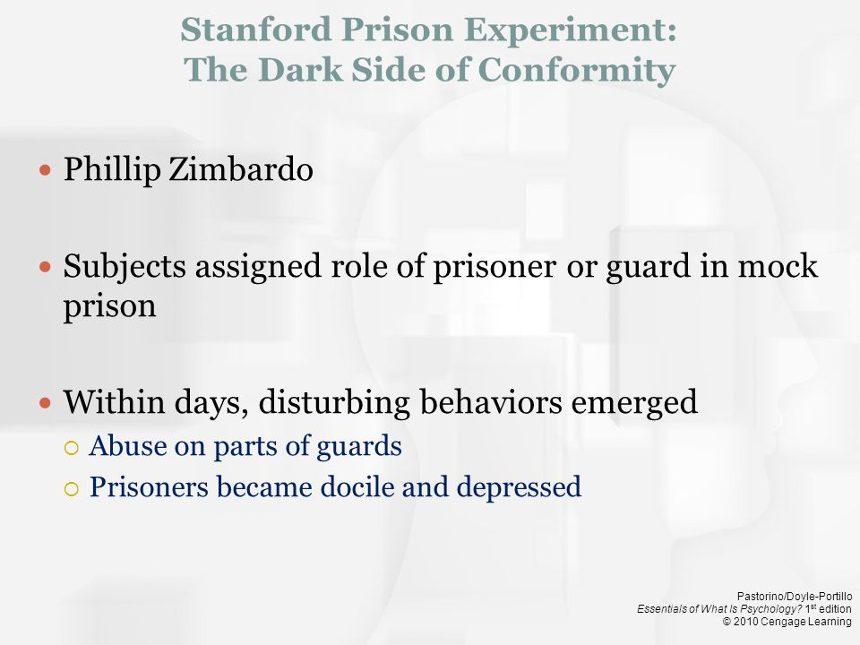 Stanford Prison Experiment: The Dark Side of Conformity