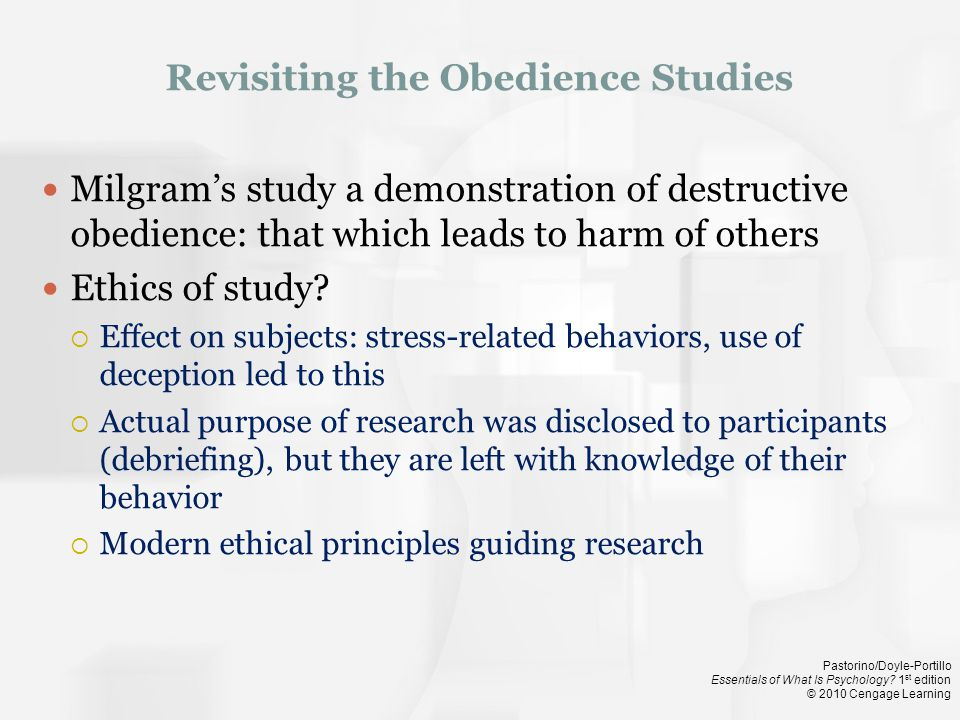 Revisiting the Obedience Studies