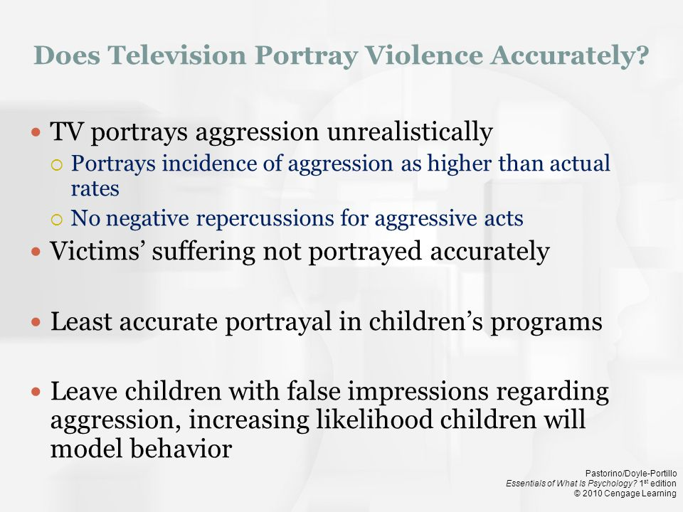 Does Television Portray Violence Accurately